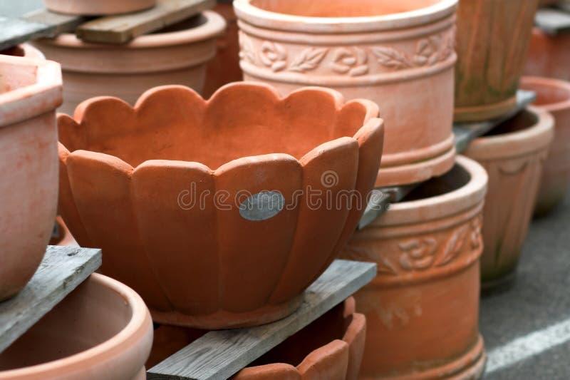 Terracotta plant pots stock photo Image of gardening 2483062