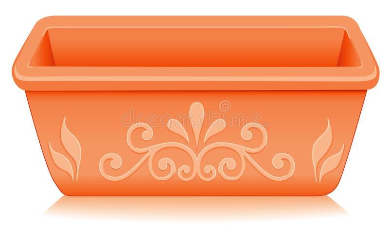 Terracotta Planter, Floral Design vector illustration