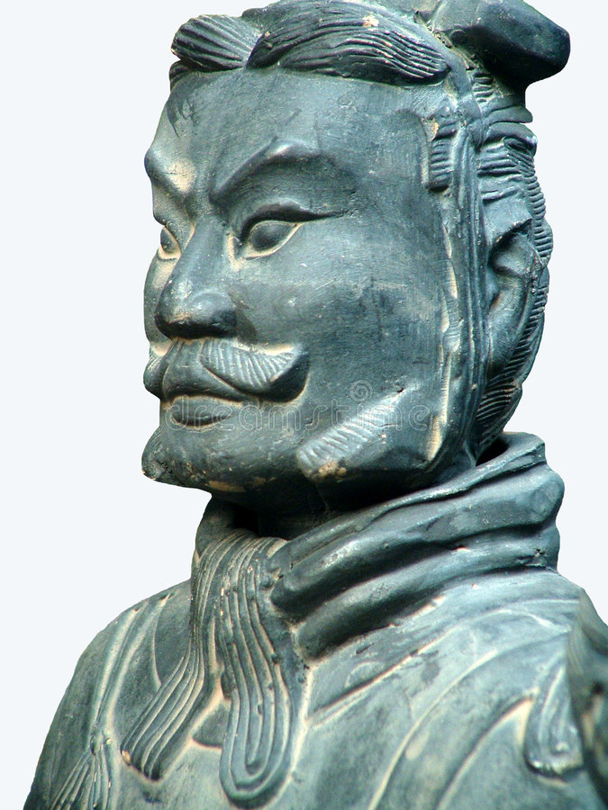 Terracotta Soldier.Isolated royalty free stock image