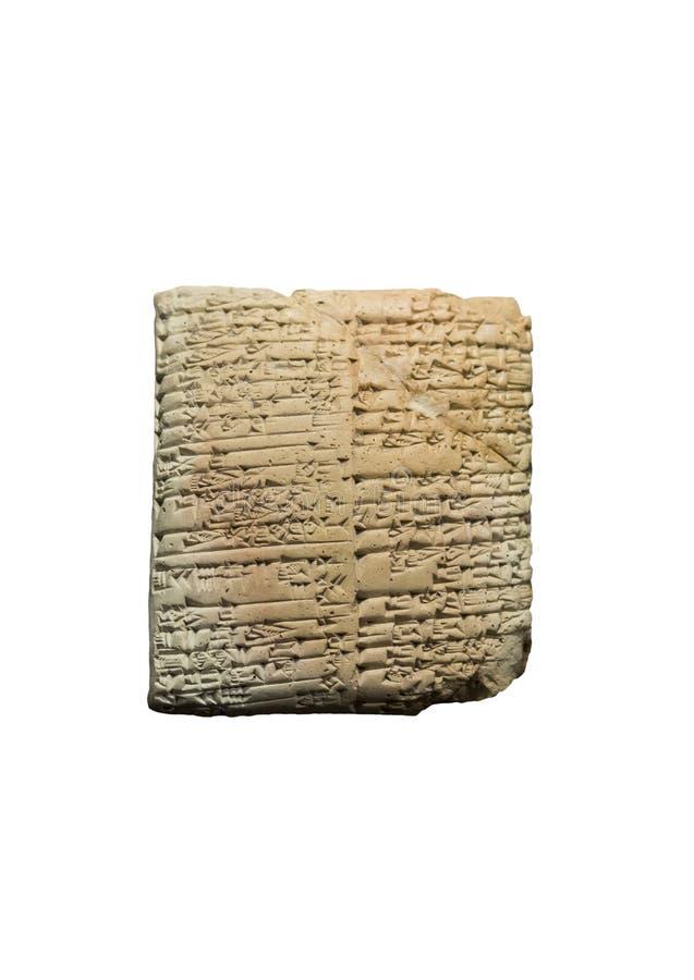 Terracotta sumerian cuneiform tablet από την Τρίτη Δυναστεία της Ur, 2030 BCE στοκ φωτογραφία με δικαίωμα ελεύθερης χρήσης