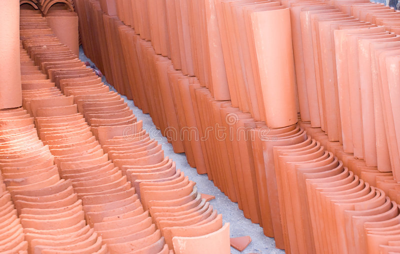 Terracotta Tile stock photo