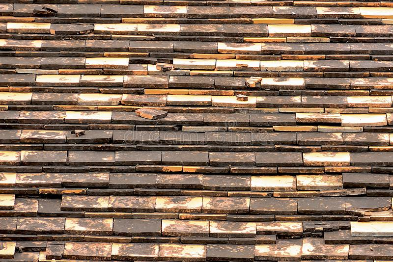 Terracotta tiles are used to protect the light and rain. royalty free stock photos