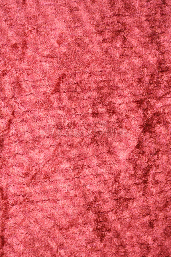 Terracotta velvet fabric as background royalty free stock image