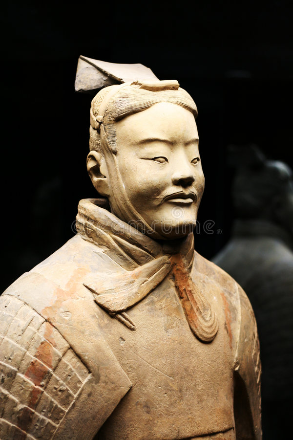 Terracotta warrior (Archer) royalty free stock photography