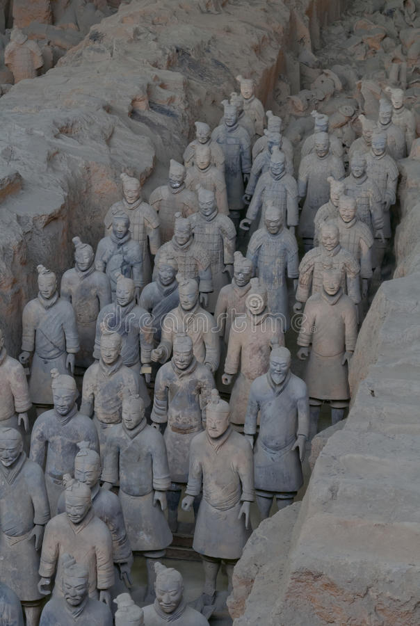 Terracotta Warrior Army of Emperor Qin Shi Huang Di stock photo
