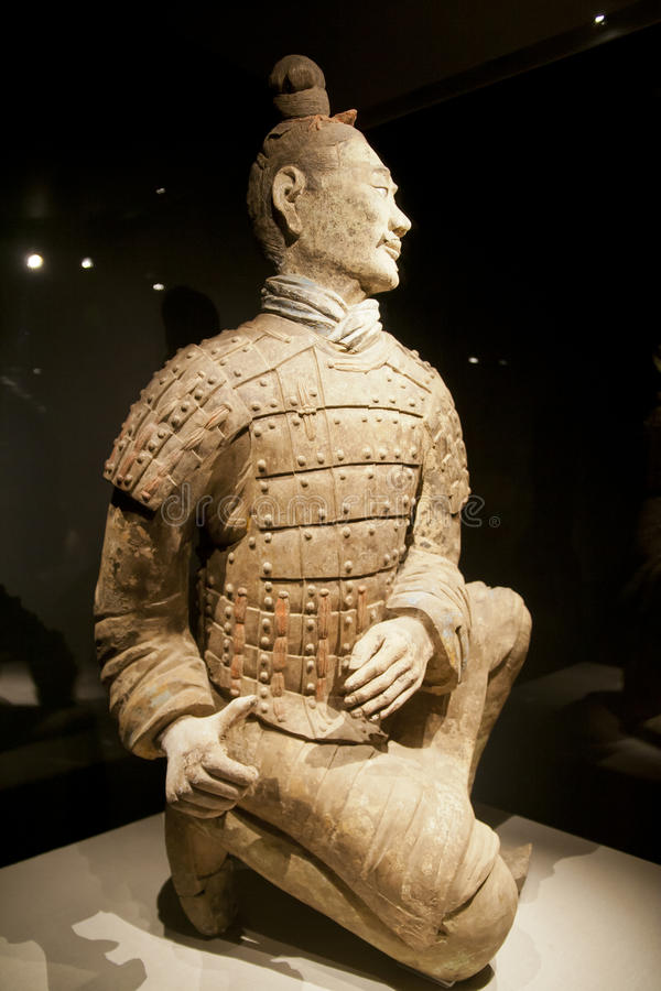 Terracotta Warrior Army of Emperor Qin Shi Huang Di royalty free stock photo