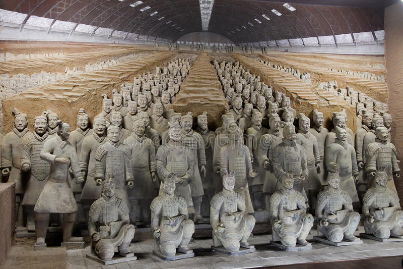 Terracotta Warriors. Xi an, China Emperor Qin Terracotta Warriors stock photography