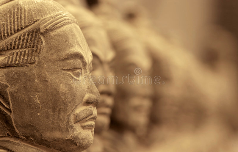 Terracotta warriors. The buried army in Xi'an, China royalty free stock photos
