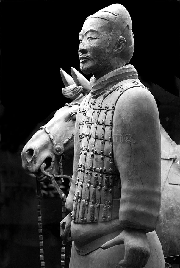 Terracotta warriors. Buried with the emperor of qin in 209-210 BC in Xian, China stock photography