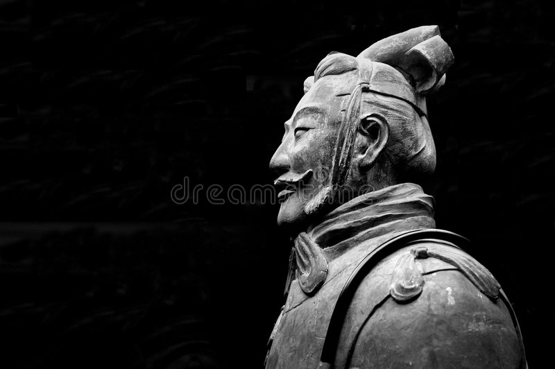 Terracotta warriors. Buried with the emperor of qin in 209-210 BC in Xian, China royalty free stock photos