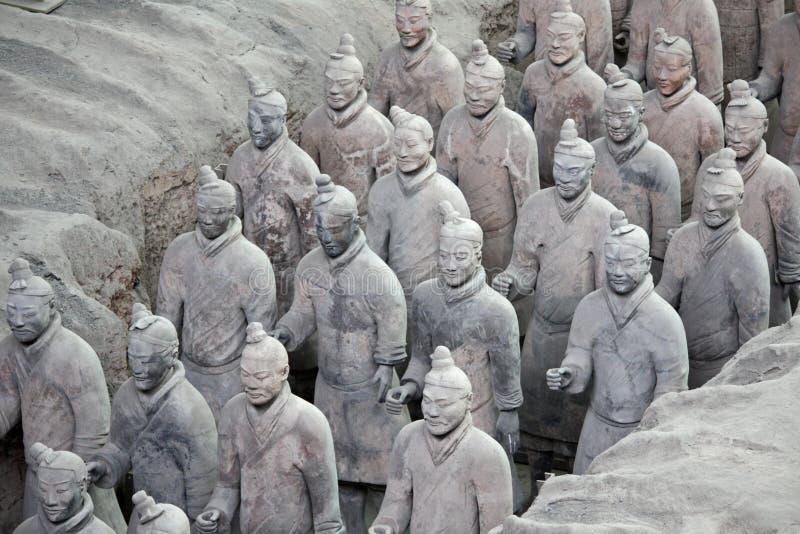 Terracotta warriors, China stock photo