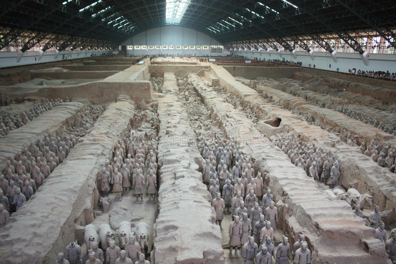 Terracotta warriors, China stock image