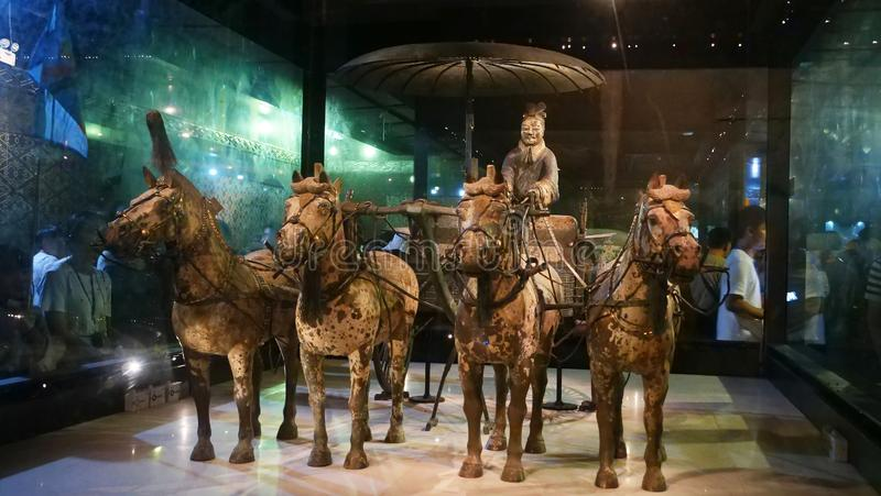 Terracotta Warriors in The museum of Terracotta Warriors and Horses, Xian China.  stock photography
