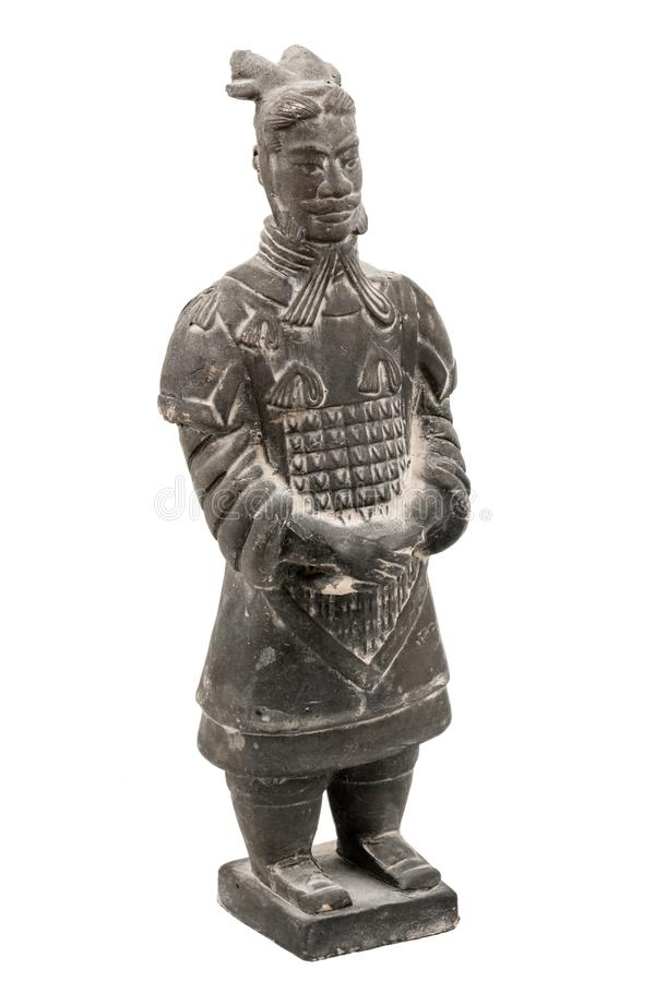 Terracotta Xian officer isolated stock photo