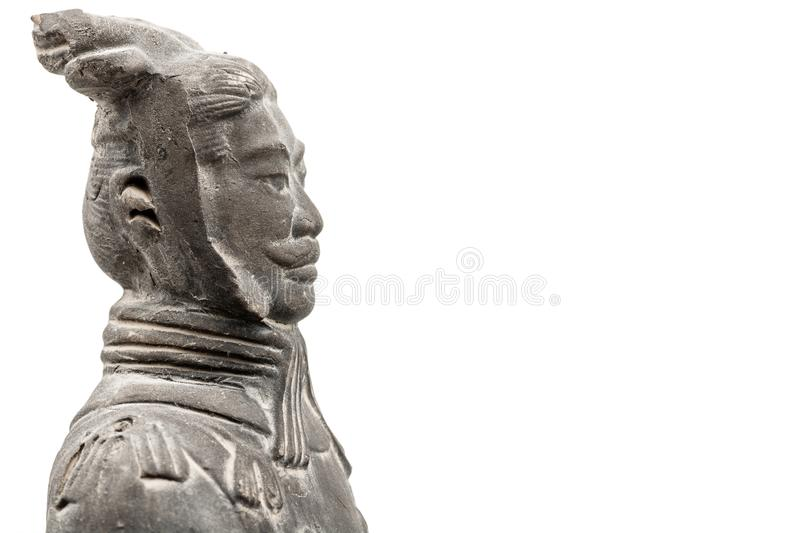 Terracotta Xian warrior officer side stock images