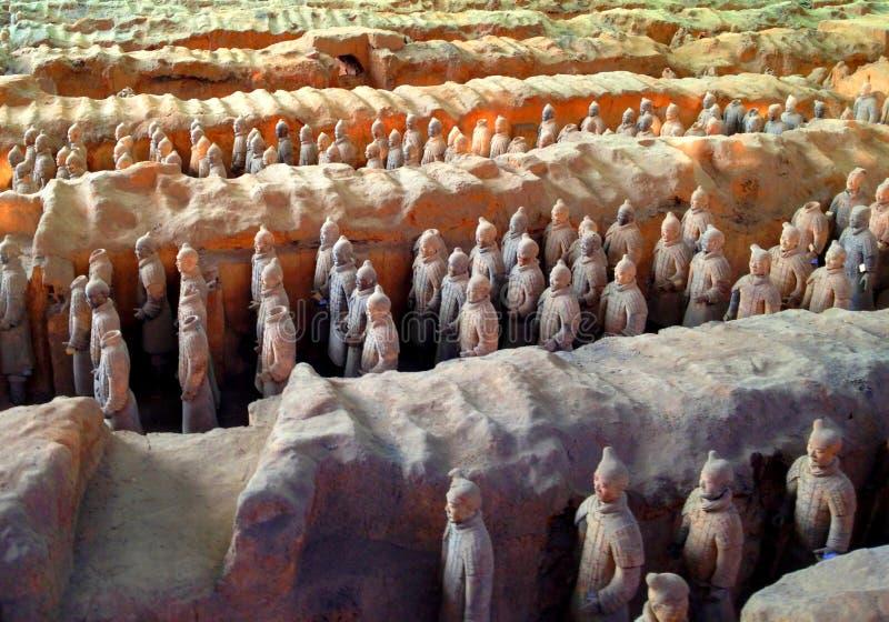 Terracottastrijders, Xi'an, China stock fotografie