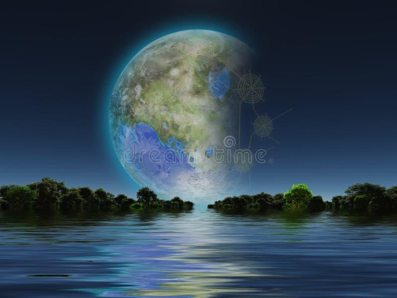 Terraformed луна бесплатная иллюстрация