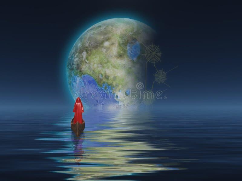Terraformed Luna ilustracja wektor