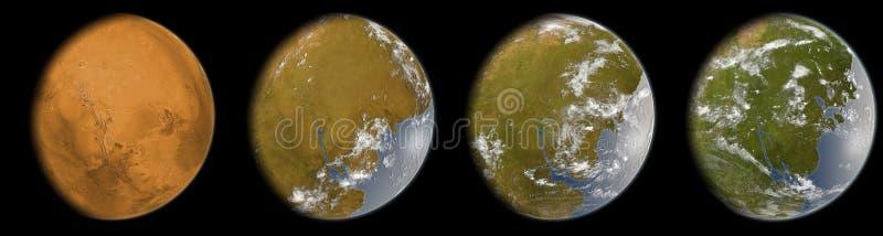 terraforming的火星 库存照片