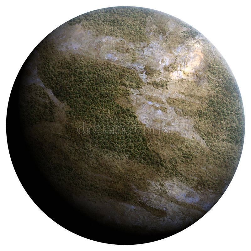 Terraforming Planet Stock Photography