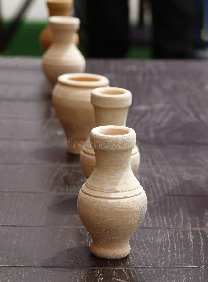 Terraglie arabe della miniatura di tradional fotografia stock