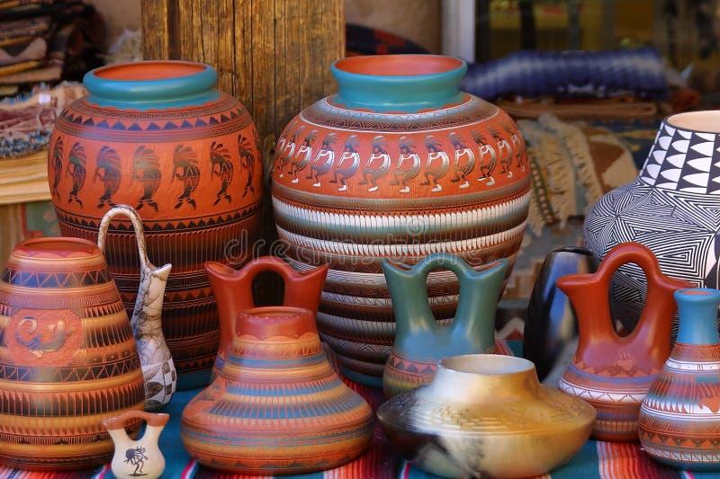 Terraglie del New Mexico fotografia stock libera da diritti
