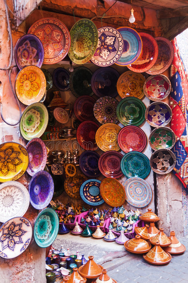 Terraglie a Marrakesh immagini stock