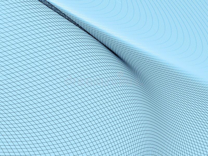 Terrain abstrait Wireframe illustration libre de droits