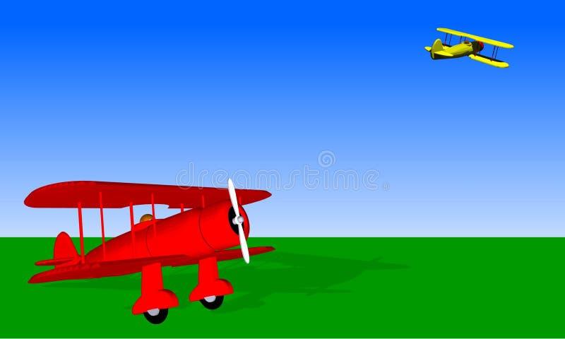 Terrain d'aviation de cru illustration libre de droits