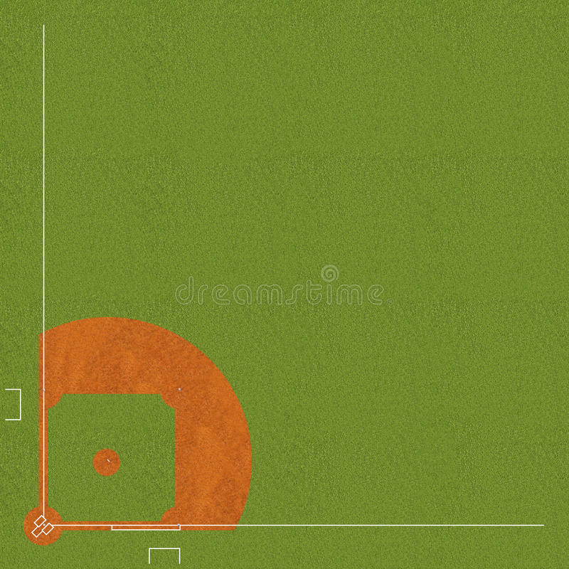 Terrain de base-ball image stock