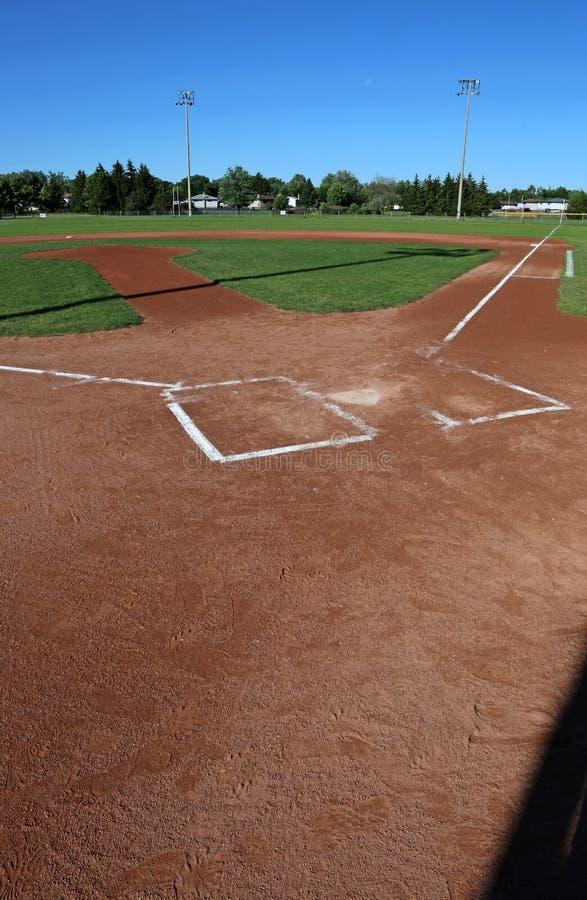 Terrain de base-ball vertical images stock