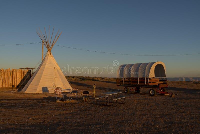 Terrain de camping de Navajo, page, Arizona photos stock