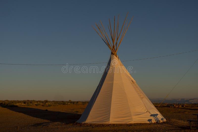 Terrain de camping de Navajo, page, Arizona image stock
