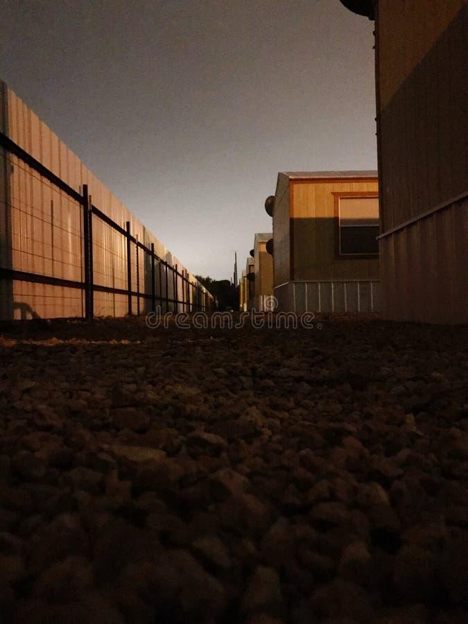 Terrain de caravaning image libre de droits