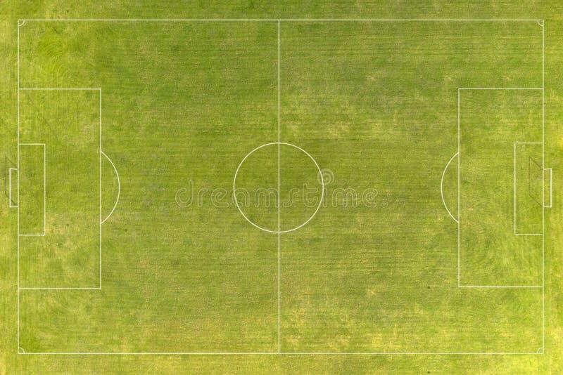Terrain de football, terrain de football photo stock