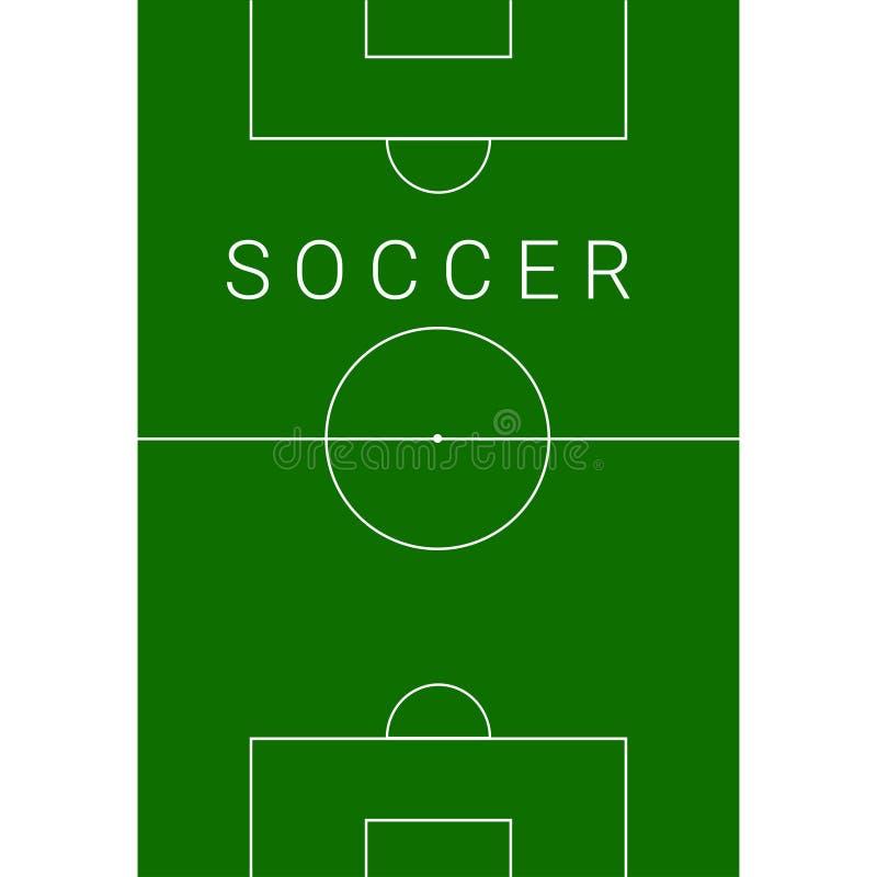 Terrain de football illustration de vecteur