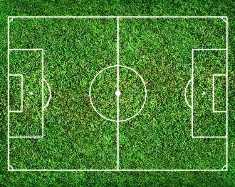 Terrain de football image stock
