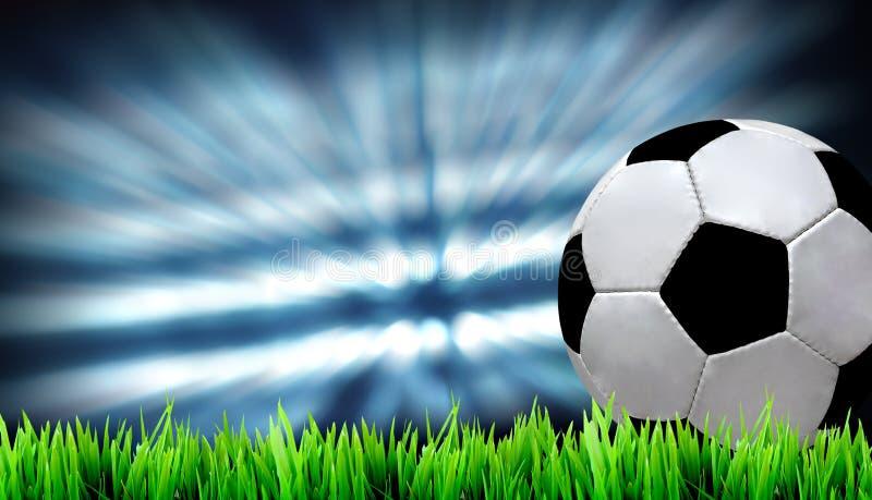 Terrain de football illustration libre de droits