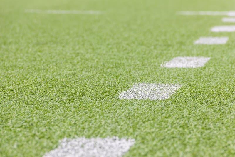 Terrain de football artificiel photos stock