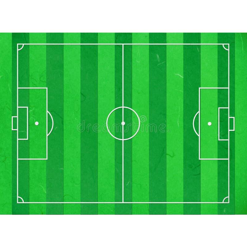 Terrain de football de coupure de papier de riz illustration libre de droits