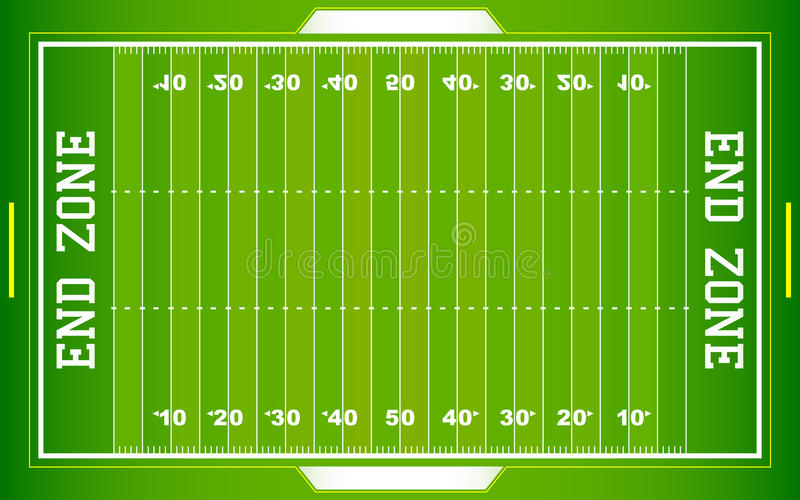Terrain de football de NFL illustration stock