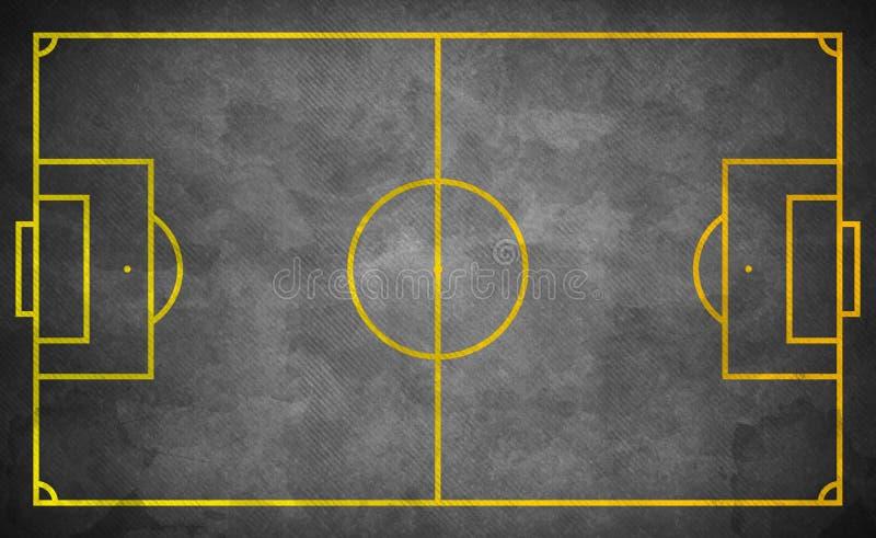 Terrain de football de rue dans le style grunge sombre images libres de droits