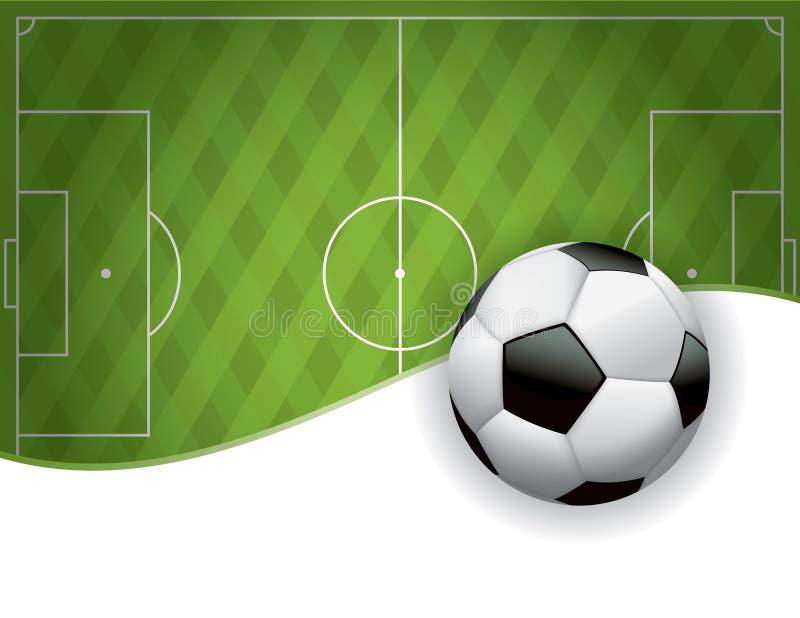 Terrain de football du football et fond américains de boule illustration de vecteur