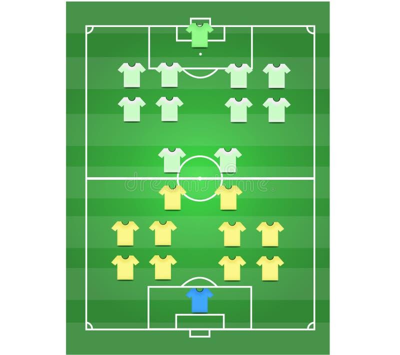 Terrain de football et footballer photo stock
