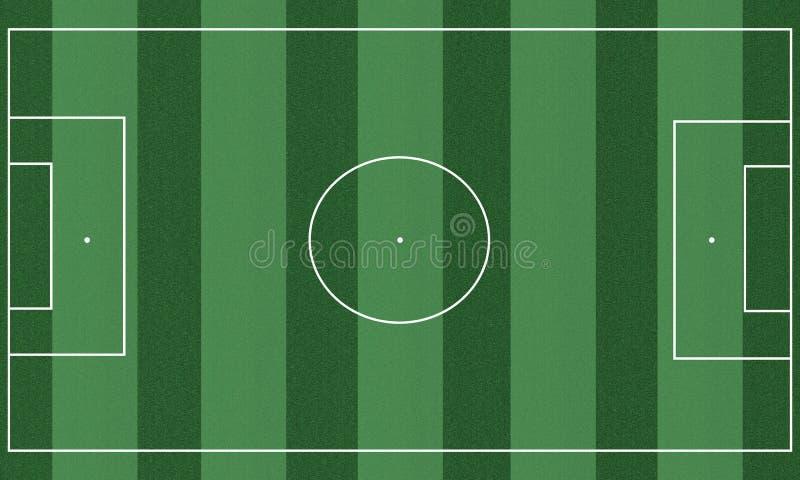 Terrain de football illustration stock