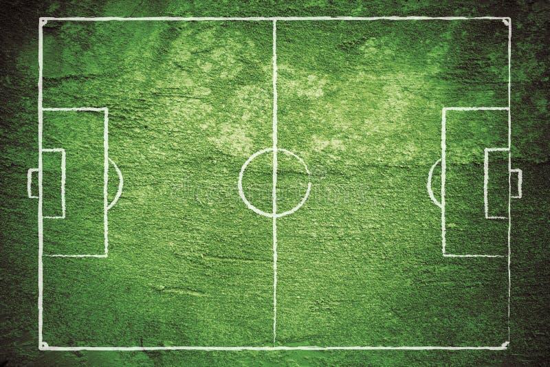 Terrain de football grunge image libre de droits