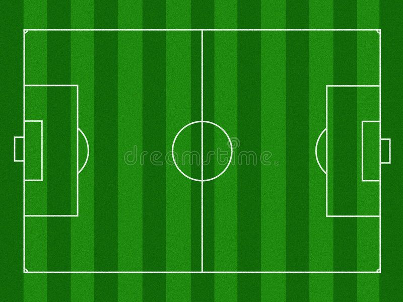 Terrain de football illustré images libres de droits