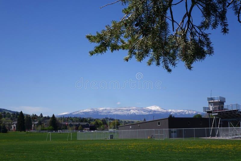 Terrain de football - Missoula, Montana photos stock