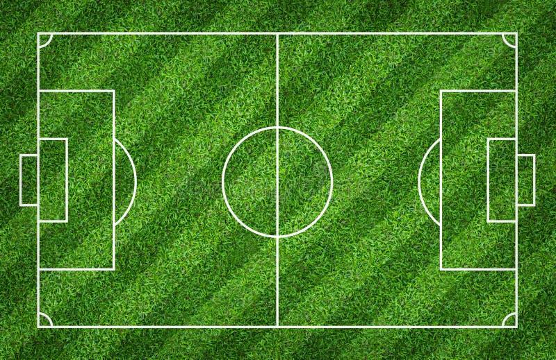 Terrain de football ou terrain de football pour le fond La cour verte de pelouse pour créent le jeu illustration stock