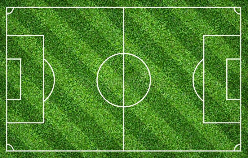 Terrain de football ou terrain de football pour le fond La cour verte de pelouse pour créent le jeu illustration de vecteur